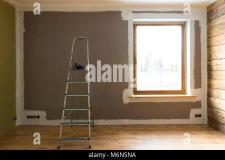 Ensemble d'outils pour la peinture à la maison de mur Banque D'Images