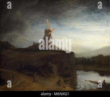 Le Moulin - Rembrandt Harmenszoon van Rijn Banque D\'Images, Photo ...