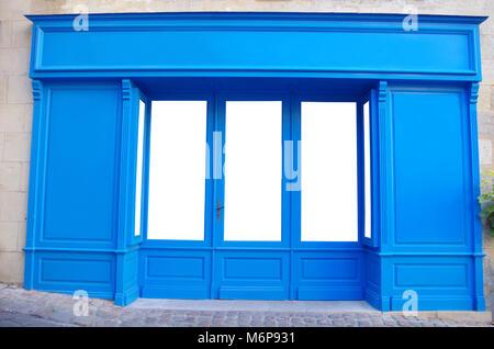 Vitrine, boutique, façade, store front générique vierge