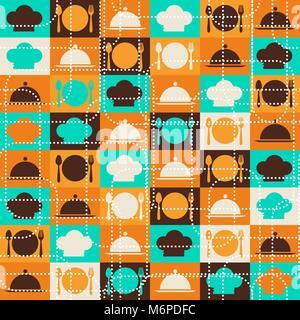 Cuisine retro Seamless pattern Banque D'Images