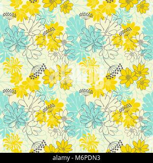Abstract floral seamless pattern Banque D'Images