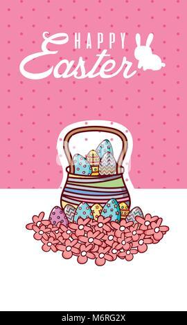 Happy Easter basket scdp Banque D'Images