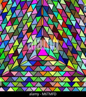 Résumé arrière-plan coloré triangles Banque D'Images