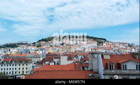 Saint George's Castle, Lisbonne, Portugal Banque D'Images