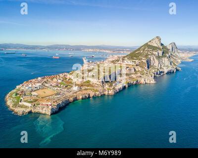 Célèbre rocher de Gibraltar sur le territoire britannique d'outre-mer, Gibraltar, Péninsule ibérique, Europe