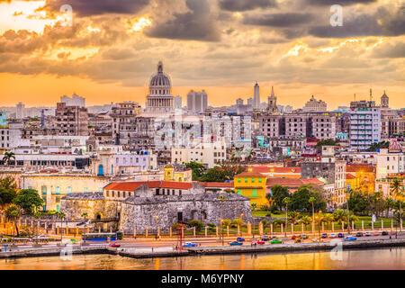 La Havane, Cuba le centre-ville.