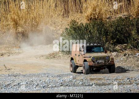Jeep rubicon au Maroc, l'Afrique Banque D'Images