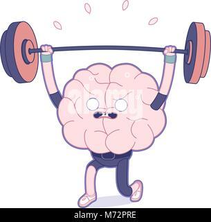 Entraînez votre cerveau série - La télévision a décrit la formation de l'illustration vectorielle, l'activité du Banque D'Images