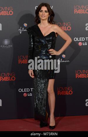 MADRID, ESPAGNE - 07 MARTCH: Penelope Cruz à 'aimer Pablo' Premiere Callao au cinéma le 7 mars 2018 à Madrid, Espagne. Banque D'Images