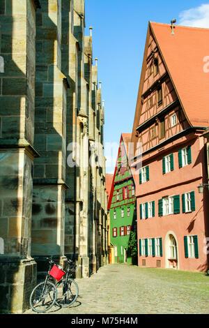 La ville médiévale de Dinkelsbuhl sur la route romantique , Bavière, Allemagne Banque D'Images