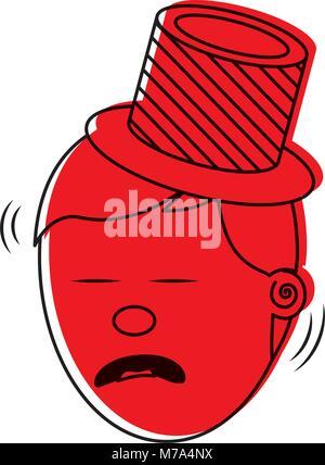 Déprimé et triste visage jeune homme Banque D'Images