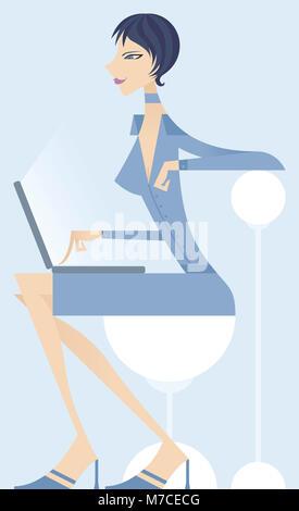 Portrait of businesswoman using a laptop