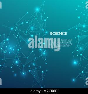La technologie et de la science historique. Résumé et web nœuds. Business modèles de bannière de couvrir. Antécédents Banque D'Images