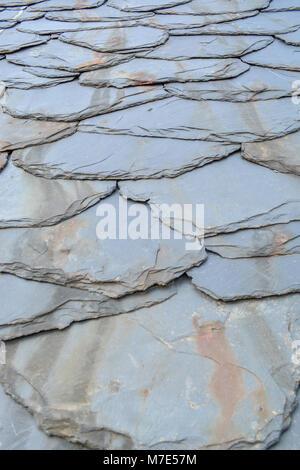 La texture de fond rustique avec carrelage schiste plus âgés Banque D'Images