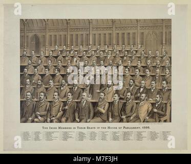 Les membres irlandais dans leurs sièges à la Chambre du Parlement, 1886 RCAC2012648837