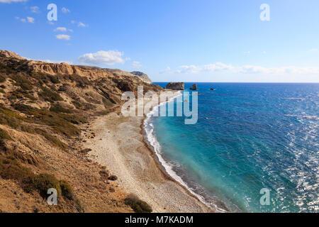 Rocher d'Aphrodite, Petra tou Romiou, près de Paphos, Chypre Banque D'Images