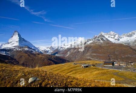 À partir de la vue sur le Cervin Zermatt Gornergrat - train ferroviaire suisse Banque D'Images