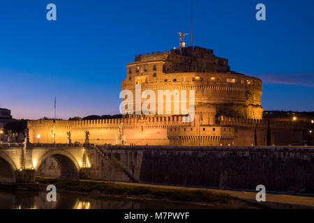 Saint Angelo Angelo et Château de pont de Rome, Italie Banque D'Images