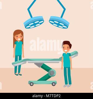 Le personnel médical cartoon