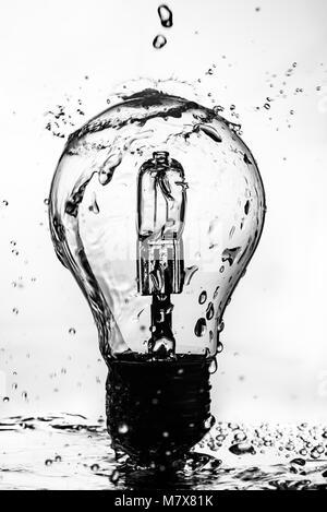 Splash Lampe Banque D'Images