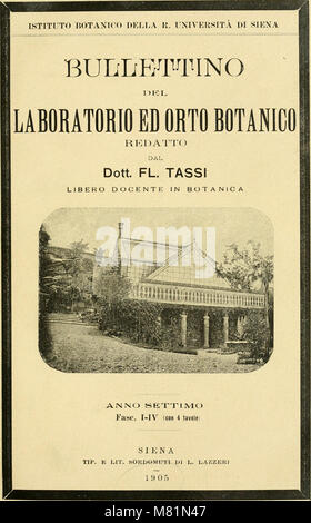 Bullettino del Laboratorio de orto botanico (1898-1906) (20509688055) Banque D'Images