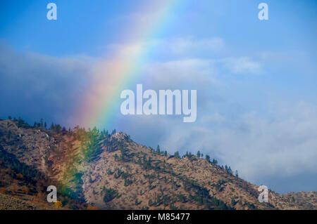 La vallée du Lac de miel, arc-en-ciel Lassen County, Californie
