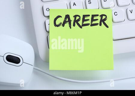 Objectifs de carrière et succès du concept d'entreprise le développement de la souris clavier de l'ordinateur Banque D'Images
