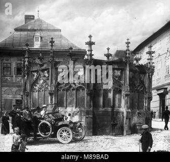 Vieille église baptistère, Prague, Tchécoslovaquie, par Burton Holmes, 1910 Banque D'Images