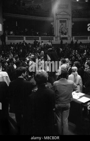 Philippe Gras / Le Pictorium - Mai 1968 - 1968 - France / Ile-de-France (région) / Paris - Rassemblement à la Sorbonne, Banque D'Images