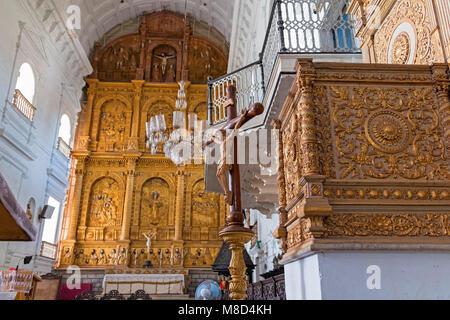 L'intérieur de la cathédrale Sé Old Goa Inde