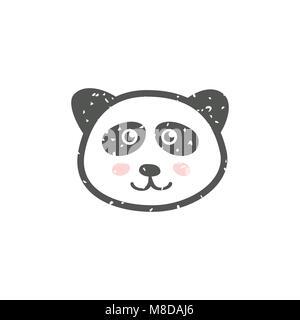 Panda mignon visage Banque D'Images
