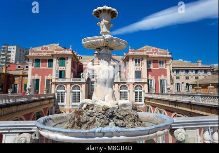 Gênes (Genova), JUILLET, 2, 2017 - Palazzo Reale de Gênes, Italie, le Palais Royal, dans la ville italienne de Gênes, Banque D'Images