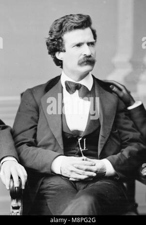 Mark Twain, Samuel L. Clemens, Destouches (1835 - 1910), écrivain américain Banque D'Images
