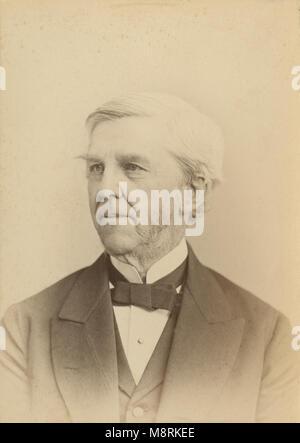 C Antique1870 photographie, Oliver Wendell Holmes Sr., père, Oliver Wendell Holmes (1809-1894) était un médecin Banque D'Images