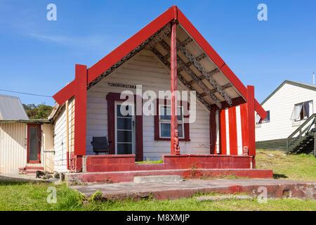 Nouvelle zélande Rotorua nouvelle zélande village thermal de Whakarewarewa maison Tuhoromatakaka papakura Maggie's Banque D'Images