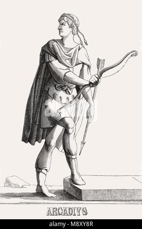 Arcadius, Flavius Arcadius Auguste, a été l'Est de l'empereur romain de 395 à 408 Banque D'Images