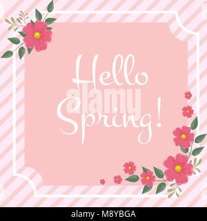 Carte de vœux de printemps Banque D'Images