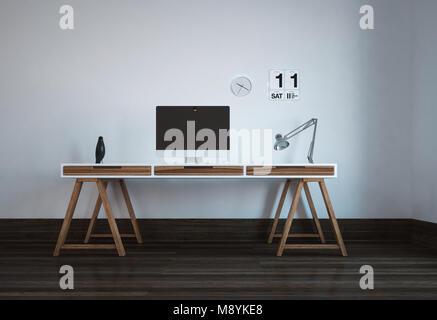Bureau avec tréteaux bureau bureau moderne pas cher