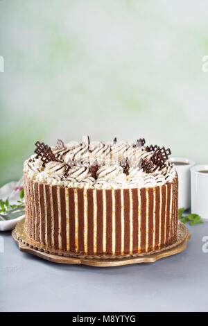 Tiramisu au chocolat Gâteau decor Banque D'Images