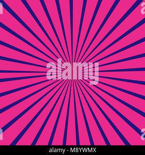 Rayons bleu et rose motif de fond Banque D'Images