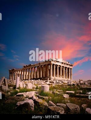 GR - l'acropole d'ATHÈNES: Banque D'Images