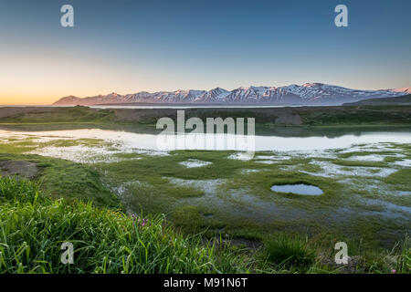 Paysage, Plage, Latrastrond Eyjafjordur, Islande Banque D'Images