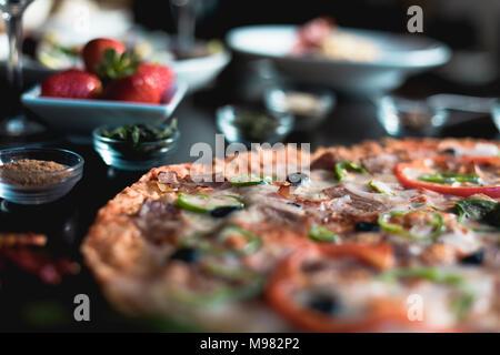 La cuisine italienne, pizza Banque D'Images