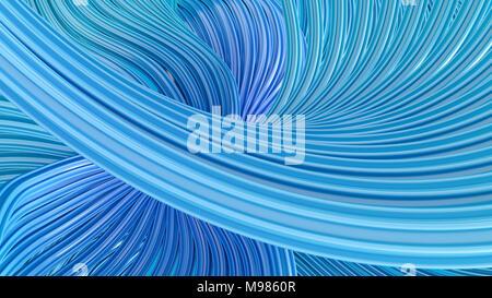 Résumé Les vagues tourbillonnantes, 3D Rendering Banque D'Images
