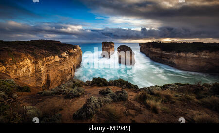 Great Ocean Road Loch Ard Gorge - Tom et Eva Banque D'Images