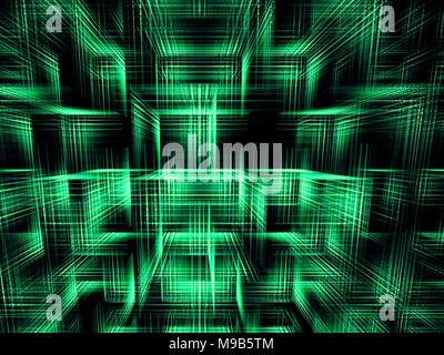 Contexte - Cubes abstract image générée numériquement Banque D'Images