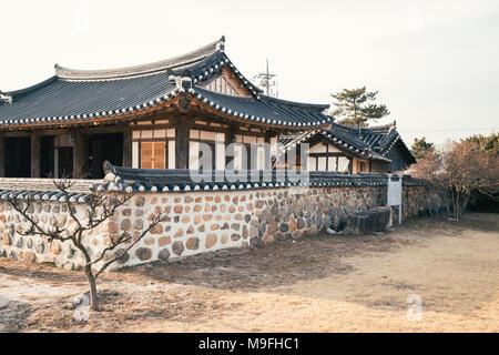 Gyochon Hanok, architecture traditionnelle à Gyeongju, Corée Banque D'Images