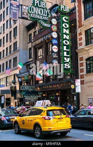 La ville de New York, restaurant irlandais Banque D'Images