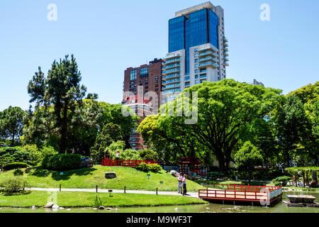 Argentine, Buenos Aires, Recoleta, jardin japonais, jardin Japones, botanique, arbres, horizon, visites touristiques Voyage visite touristique touristique