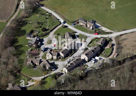 Vue aérienne de l'emplacement défini TV Emmerdale Banque D'Images